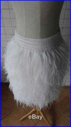 17.72 (45cm)free shipping ostrich feather skirt for party with wide elastic waistband SKT 16006