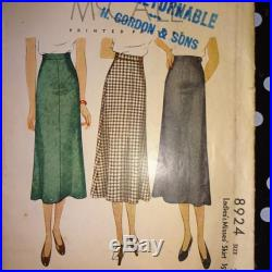 1930s Style Basic Slim Skirt Custom Made in Your Size From a Vintage Pattern
