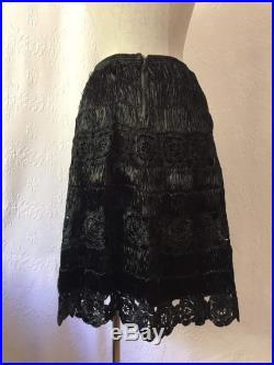 1940s raffia hand knotted skirt