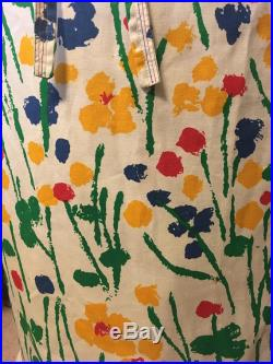 1960's colorful tulip wrap skirt