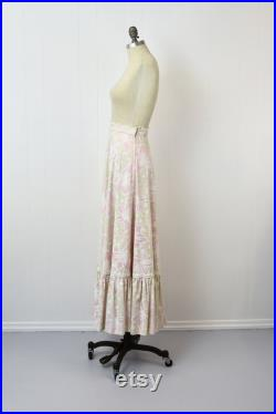 1960s Lilly Pulitzer Floral Maxi Skirt