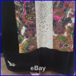 1970's Chessa Davis Lord and Taylor 2 Piece Lace Top and Maxi Skirt