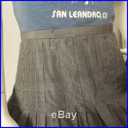 1980s Jacqueline Pérès French Gingham Shantung and Eyelet Skirt