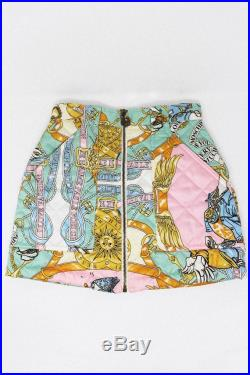 1990S Vintage MOSCHINO Duck Print Quilted Skirt
