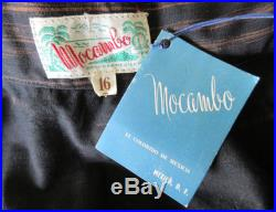50's Graphic Metallic Hand Painted Rockabilly Mexican Print Circle Skirt withTags