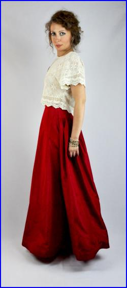 50s Red Maxi Ball Gown SKIRT by Elizabeth Arden High End Designer ...