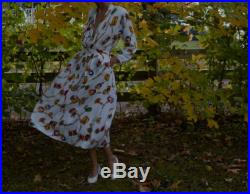 80s soft rayon baroque print skirt set with deep v draped blouse, full skirt fits up to large