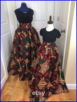 African mommy and me skirts African women clothing African twinning skirts African fashion skirt
