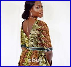 Alison Tribal Print Maxi Skirt and Cropped Top, Long African Dress, Ethnic Print Maxi Skirt Set, Long Ankara Skirt and Top Made to Order.