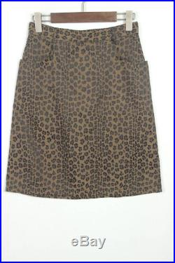Amazing Fendi 90 s Vintage Leopard skirt Made in Italy