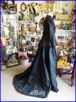 Antique Victorian Mourning Skirt 1800s Victorian Skirt Authentic Historical Costume