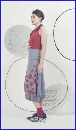 Art 42 17 -20 OFF Gonna Frida. Sartorial, Made in Italy, Handmade, Atelier, Summer, Everyday, Skirt, Tulip shape, Unique, Hand painted.