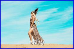 BAMMBAMM 'PEBBLES' Flip Sequin Skirt Maxi for Burning Man Burn Playa Desert