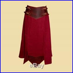 Battle Skirt made of Linen and Oiled Leather