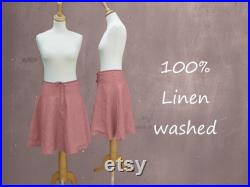 Billowing skirt made of washed linen