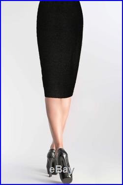 Black Pencil Skirt Black Pencil Skirt knitted Black Knee Length Skirt with lace