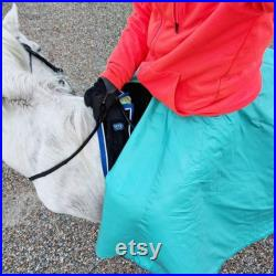 Black Riding Skirt for winter Equestrian riding gear Insulated Riding clothes for woman