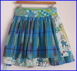 Blue Smurf multi-tailles 4 patchwork ruffle metres wrapped around the waist wrap skirt will fit all body