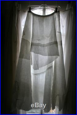 Bohemian Eco Recycled White Linen Maxi Skirt by Breathe Clothing