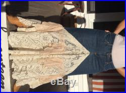Bohemian Lace and Denim Skirt Made in the USA