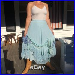 Boho Chic Cotton and Lace Flowing Skirt