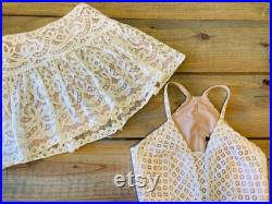 Boho lace skirt withmatching crop top