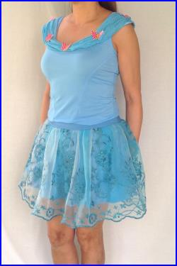 Butterflies in blue. NEW Cinderella inspired complete running outfit