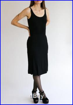 CHANEL Size FR 38 XS S 1990s Vintage Black Pleated Below-the-Knee Skirt with Slits 90s Chanel Boutique Extra Small Small