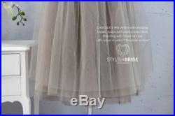 Chocolate Ombré Tulle Skirt 7 Layers Super Puff, 100 exclusive handmade cut layers with Lace Crop top, Tulle Skirt Nude Brown Skirt Bridal