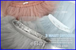 Christmas Grey Ombre Tulle Skirt 7 Layers Super Puff, 100 exclusive, Tulle Skirt Woman, Red Tulle Skirt Bridal New Year Skirt