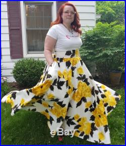 Custom Made Full Circle Skirt with Bustle Tie Ups