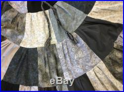 Eye of the Storm Patchwork Skirt with Pockets
