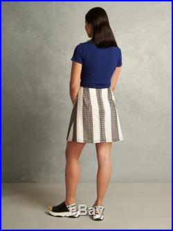 Eyelet cotton embroidered a line not so mini skirt