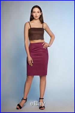 Faux suede skirt by ARTFUR. 14 colors available.