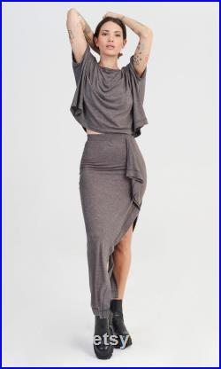 Fine Knit Top and Skirt Set