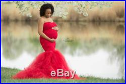 Fiona red tulle maternity dress,Lace maternity gown,Tulle Fitted Mermaid Style, Maternity Gown, tulle dress, wedding dress,maternity wedding