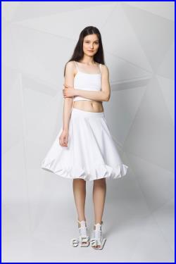 Flared skirt with decorative strip