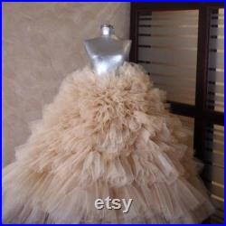 Full puffy layered tulle skirt wedding prom party plus usa formal birthday
