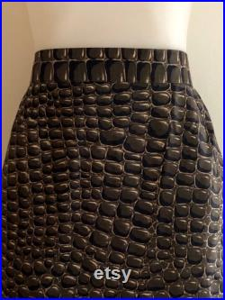 GENNY Vintage 1980s rare 'Genny' by Gianni Versace reptile print pencil skirt Made in Italy