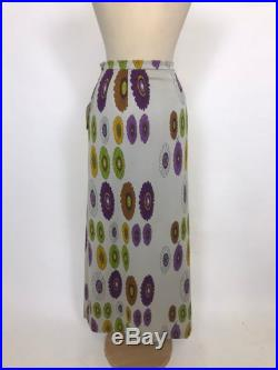 GIO CARÈ Made in Italy vintage Deadstock 1960s 1970s floral print long skirt New withtag size S