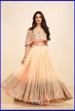 Georgette emboridery lehenga and emboridery choli with net dupatta for womans party and wedding