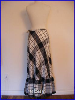 Gorgeous Vintage Country Chic Black And White Gingham MISTER LEONARD Skirt By Len Wasser