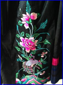 Gorgeous vintage bridal re-designed full skirt with Chinese embroidery Peacock and peony