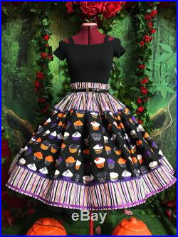 Gothic alternative rockabilly cupcakes 1950s style pinup skirt