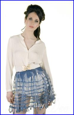Grid Mesh Latex Short Circle Skirt in Pale Blue or ANY Colour
