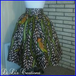 H O D A R I Belle Skirt Made from Authentic Vlisco Dutch African Wax