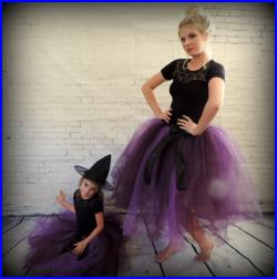 5cd4670f870f04 Halloween mother daughter matching tutu set, teen and girls matching tutu,  mom and daughter matching witch costumes adult ...