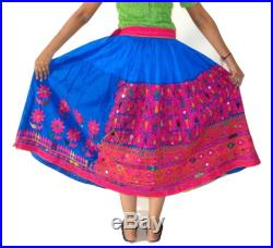 Hand Embroidery Mirror Work Rabari Skirt Hippie Bohemian Kutchi Work Chaniya Gujarati Hand Work Chaniya -Mirror Work Traditional Ghaghra