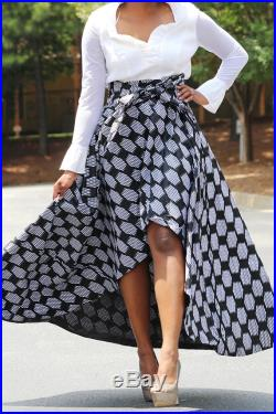 High and low African skirt