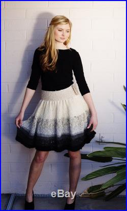 In the Clouds- Custom Knit High-Waisted Skirt soft and romantic, any colors womens statement clothing -one of a kind bespoke handknit